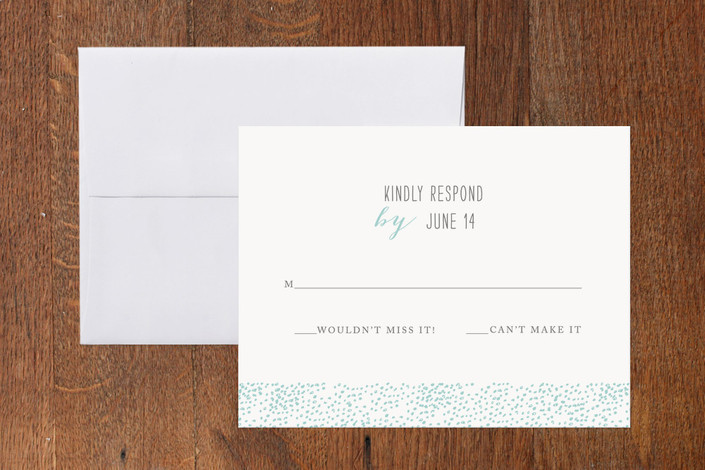 """Cloud of Dots"" - Simple Print-it-yourself Rsvp Cards in Sky by Waldo Press."