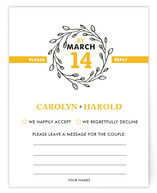 A New Leaf Print-It-Yourself RSVP Cards