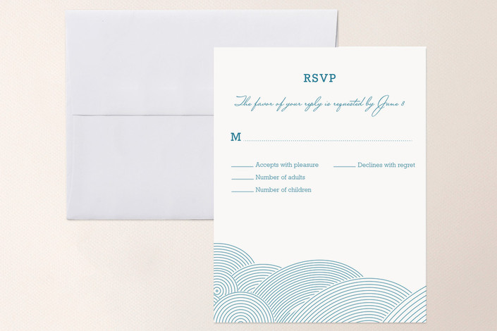 """""""There's an Air About Them"""" - Beach Print-it-yourself Rsvp Cards in Aqua by bumble ink."""
