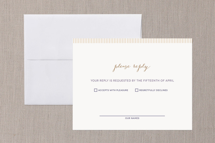 """""""With This Ring"""" - Modern Print-it-yourself Rsvp Cards in Gold by R studio."""