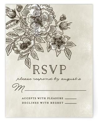 Wedding Etching Print-It-Yourself Wedding RSVP Cards