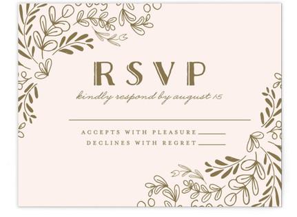Wedding Vines Print-It-Yourself Wedding RSVP Cards
