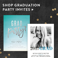 Parties Nav Ad: Graduation Party Invites