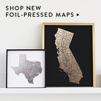 Photo & Art Gifts Nav Ad: Foil Pressed Maps