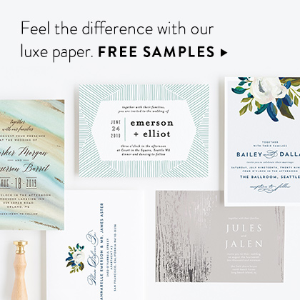 FREE wedding stationery samples