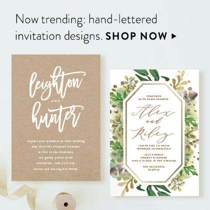 Wedding invitations minted hand lettered stopboris Image collections