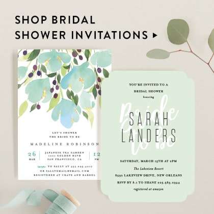 bridal shower invitations minted