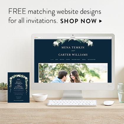 Free Wedding Websites Minted